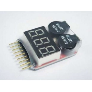 RC Lipo Battery LED Voltage Meter Indicator alarm