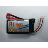 FLY-max lipo battery 3s 11.1v 3000mah 30c ( Fit size for 450 heli )