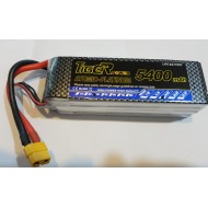 Tiger Power 14.8V 5400mAh 4cell 25C Lipo Battery - A Grade