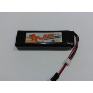 TY-max lipo battery TX pack 2s 2200mah 8c ( for futaba 8fg / 12fg )