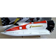 Hornet Formula-1 Tunnel Hull with 540 Outboard Motor R/C Racing Boat (750mm)