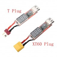 2-6S Lipo to USB Charging Adapter - T Plug