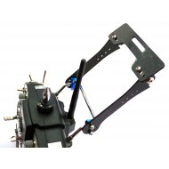 7-8 inch (Carbon Fiber) LCD Monitor FPV Mount Bracket for Futaba JR WFLY FS-TH9X-B Remote