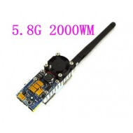 5.8G FPV 2W 8 Ch 2000mW Wireless Audio Video Transmitter