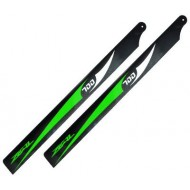 Zeal - Carbon Fiber Main Blades 700mm (B) - Green