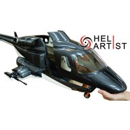 HeliArtist 600 Wolf Scale Body with CNC Landing Gear - Sliver Black (Version 2)