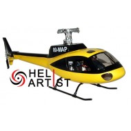HeliArtist AS350 Yellow Black Fiber Glass Fuselage