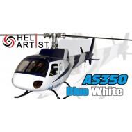 HeliArtist AS350 Blue White Fiber Glass Fuselage