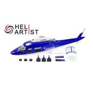 HeliArtist A109 600 Size With Retract System (Blue)