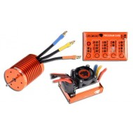 SKYRC LEOPARD Brushless Combo 60A ESC 4370KV 9T Motor Program Card For 1:10 RC Car