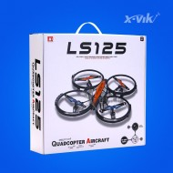 2.4G 6 axis 4channel middle size rc quadcopter drone with camera and protective ring